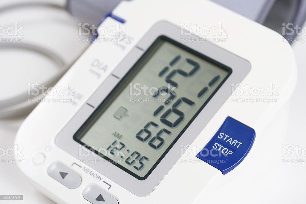 A digital blood pressure monitor royalty-free stock photo