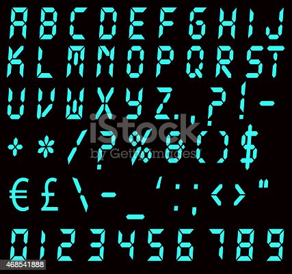 istock Digital Blue Alarm Font 468541888