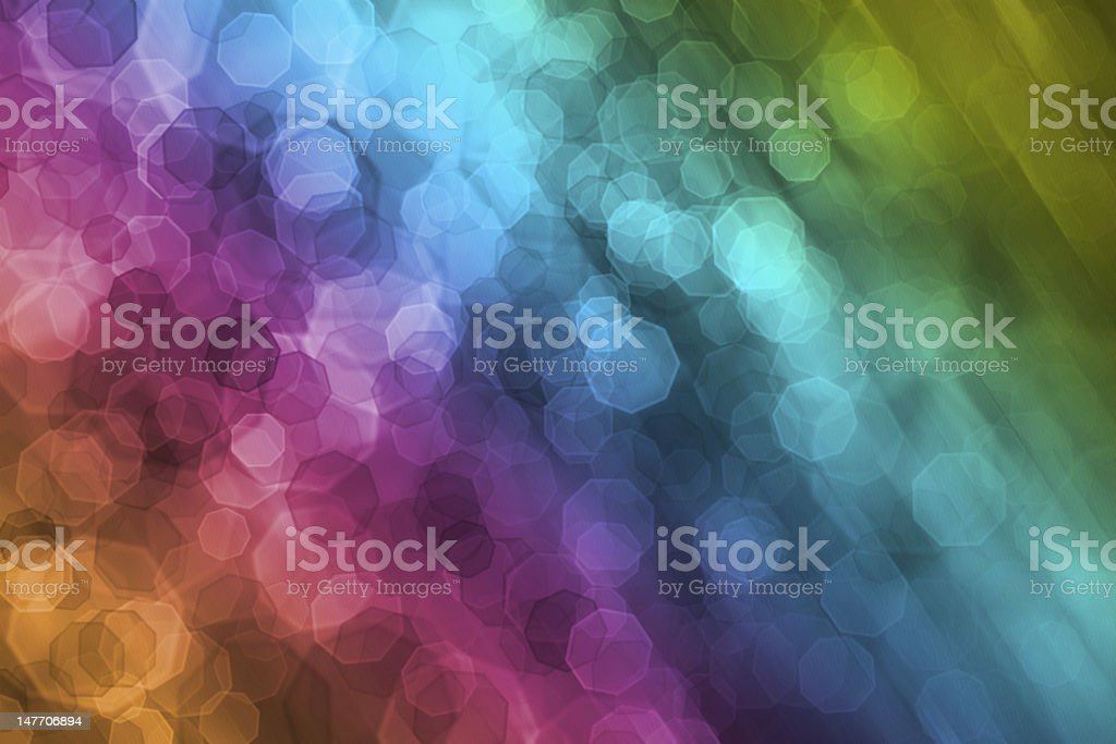 Digital bokeh rain royalty-free stock photo