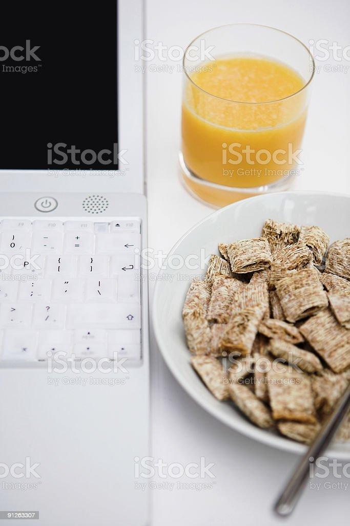 Digital breakfast royalty-free stock photo