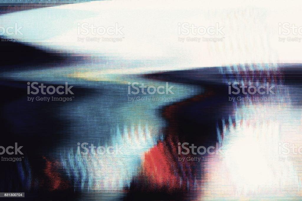 Digital broadcast fatal error glitch failure stock photo