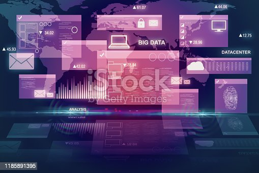 1177116437 istock photo Digital business interface 1185891395