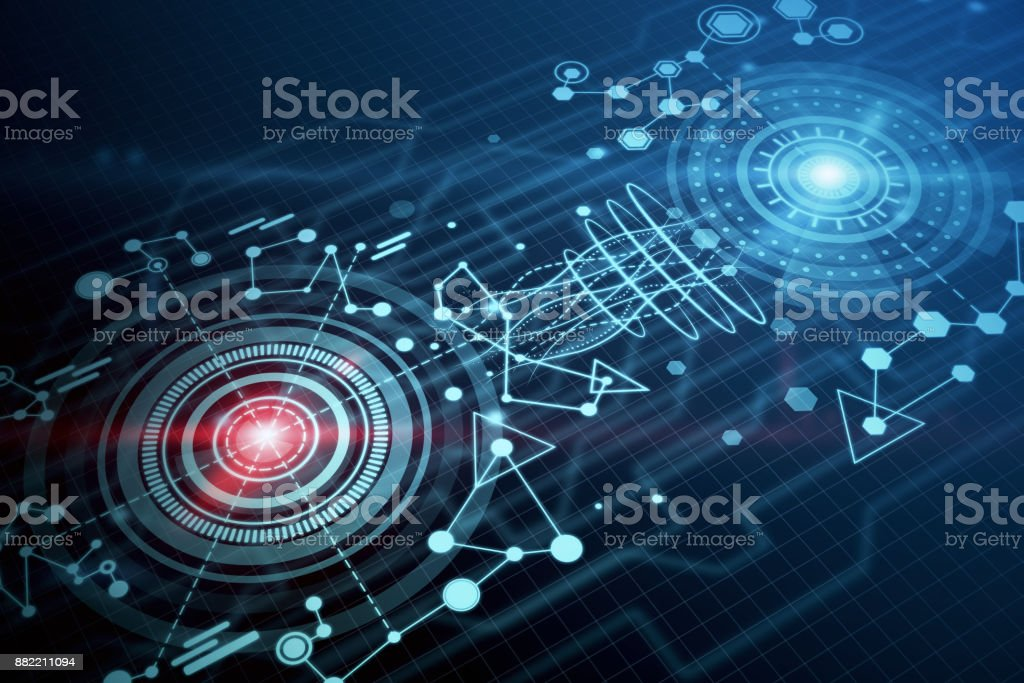 Digital Business Wallpaper Technology And Hologram Royalty Free Stock Photo