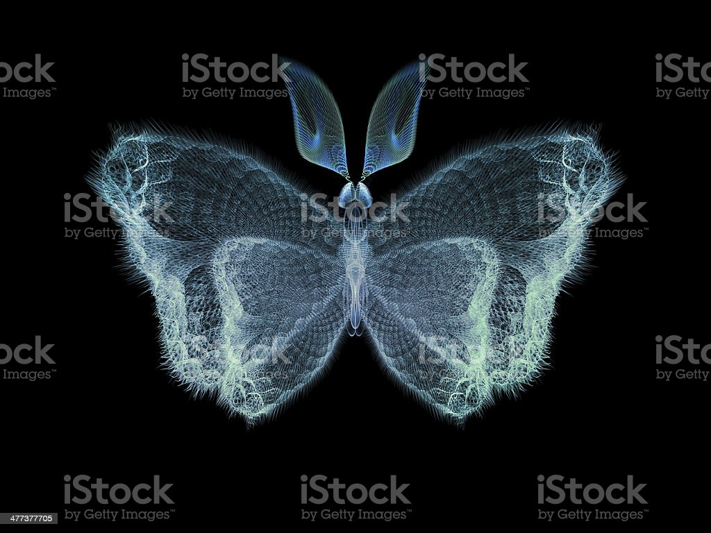 Digital Butterfly royalty-free stock photo