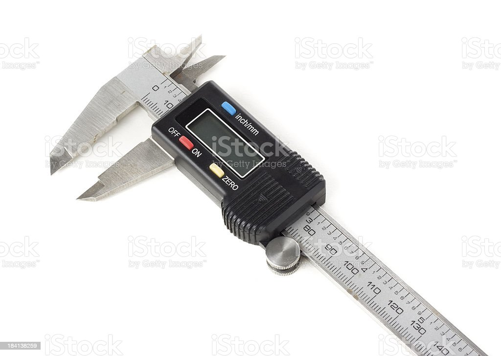 Digital calipers isolated on a white background royalty-free stock photo