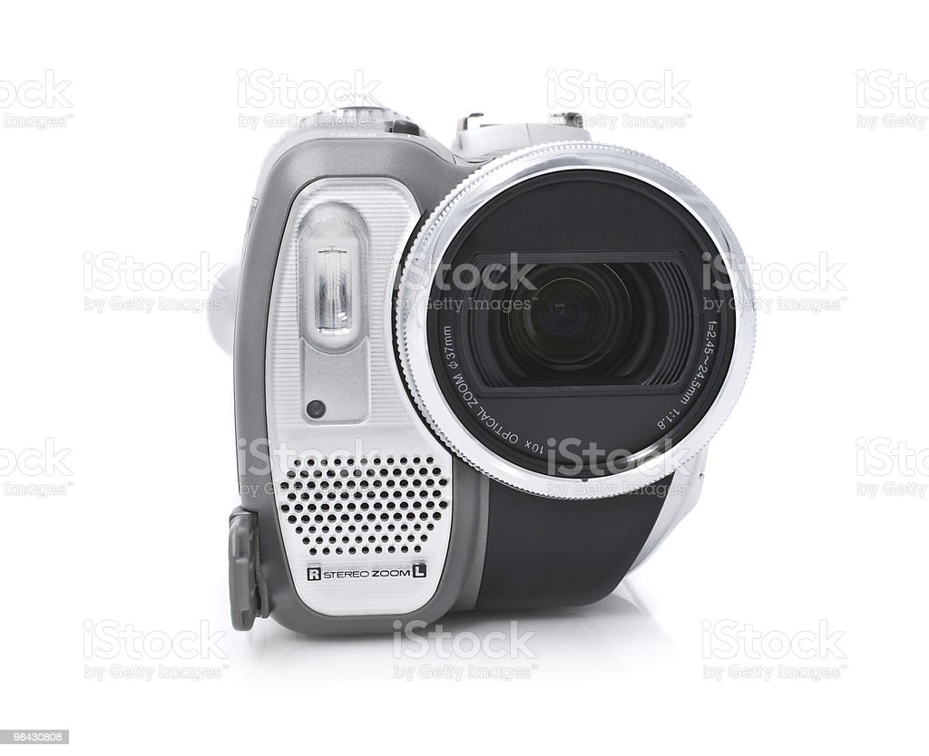 Digital camcorder isolated on white background royalty-free stock photo