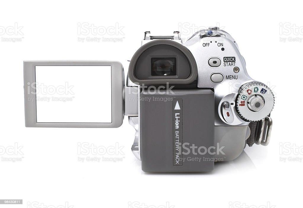 디지털 캠코더 흰색 바탕에 흰색 배경 royalty-free 스톡 사진