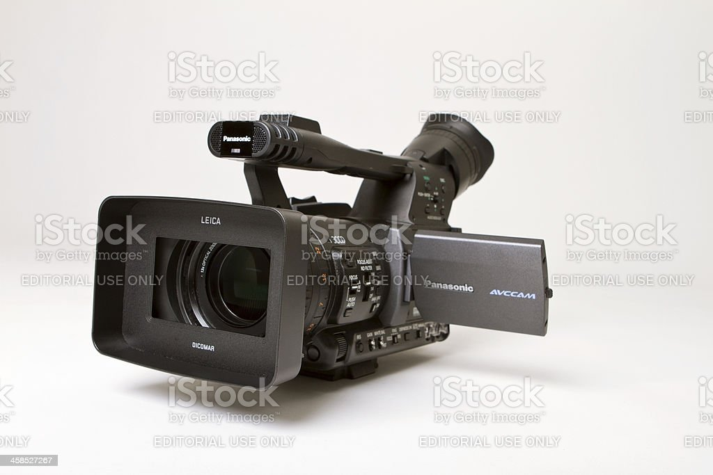 Digital camcorder isolated on white with clipping path stock photo