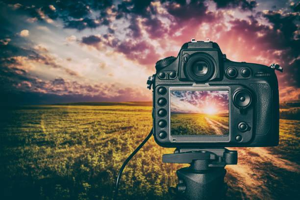 Digital camera concept. stock photo