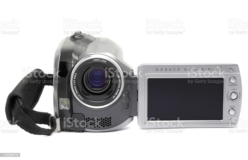 HDD digital camera, isolated on white background stock photo