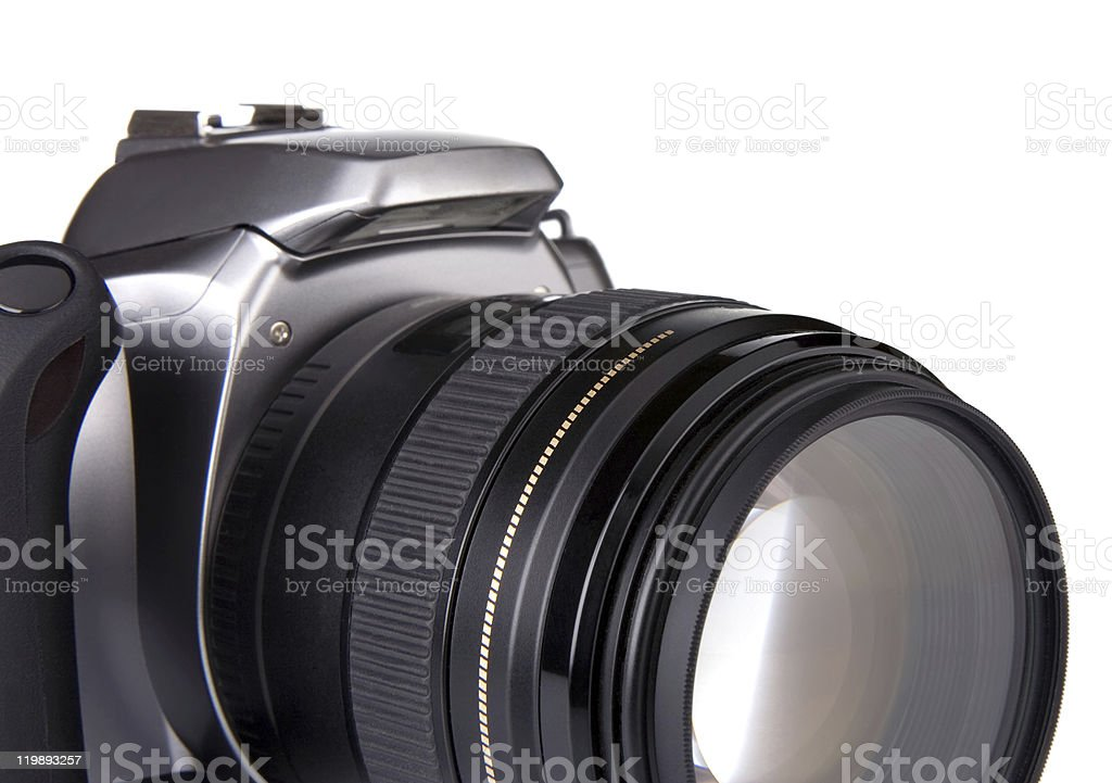 digital camera isolated on white royalty-free stock photo