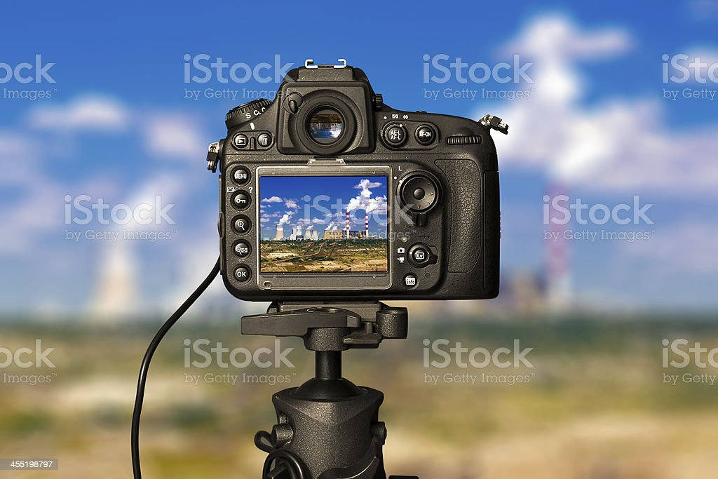 Digital camera on day stock photo