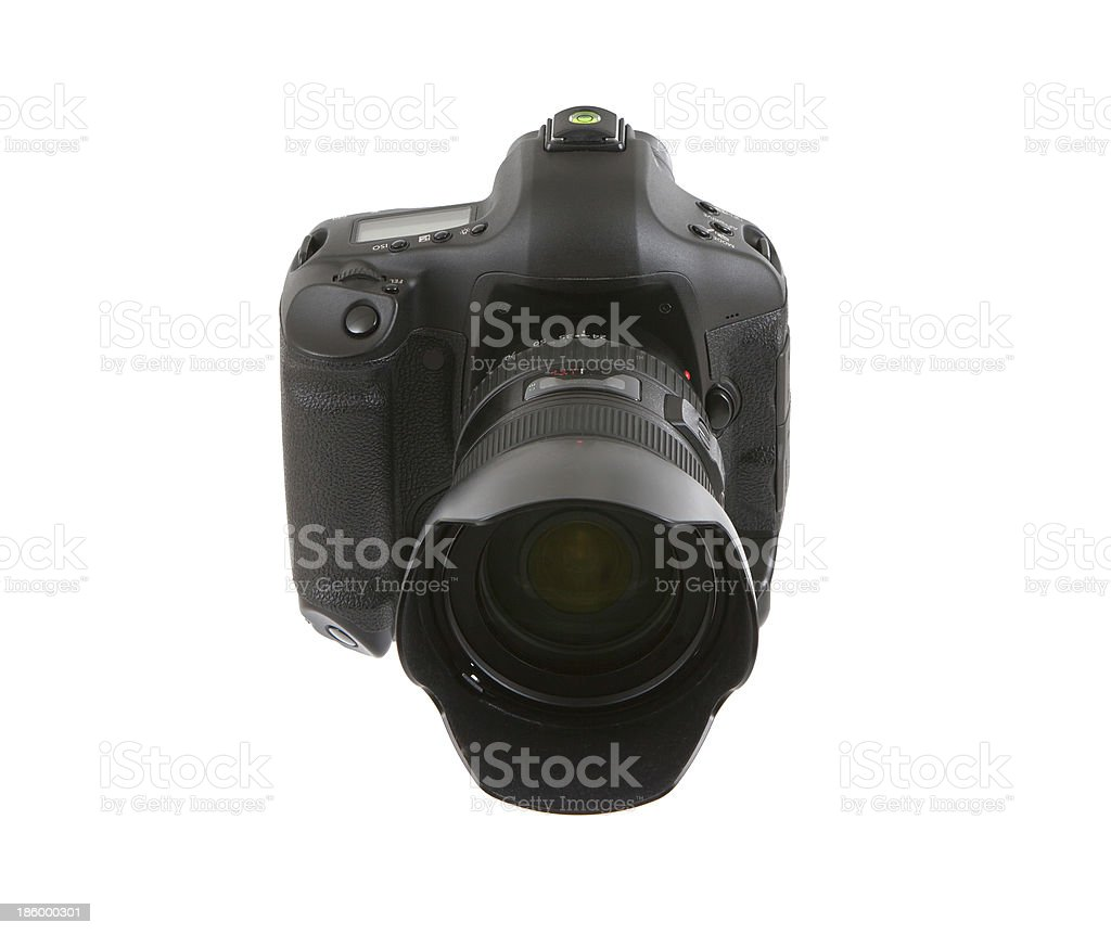 Digital camera with lens royalty-free stock photo
