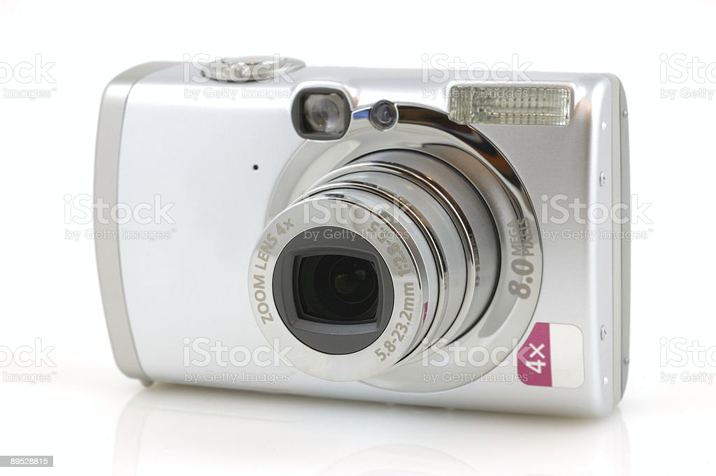 Digital camera with reflection royalty-free stock photo