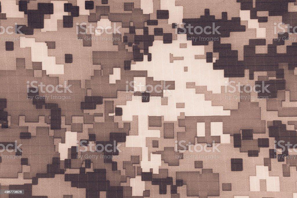 Digital camouflage fabric stock photo