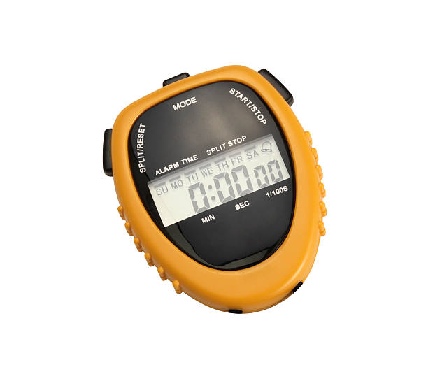 digital chronometer +clipping path - stopwatch stockfoto's en -beelden