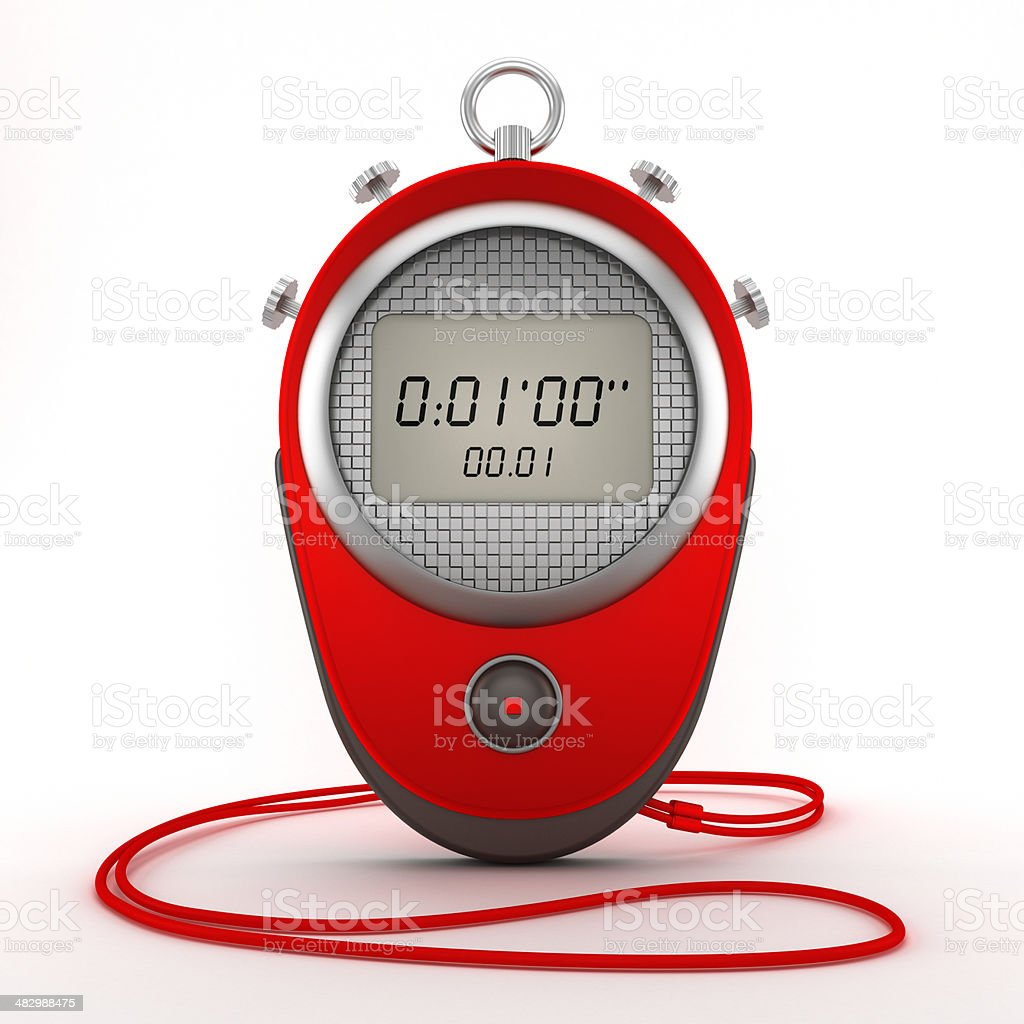 Digital chronometer stock photo
