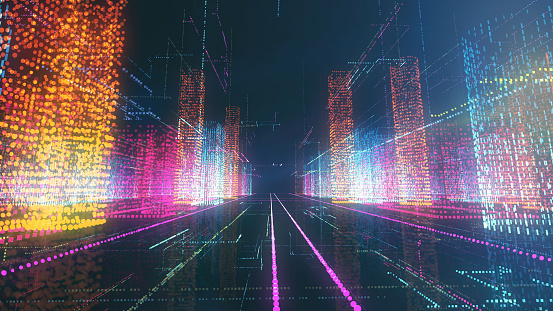 Digital City — стоковые фотографии и другие картинки Абстрактный
