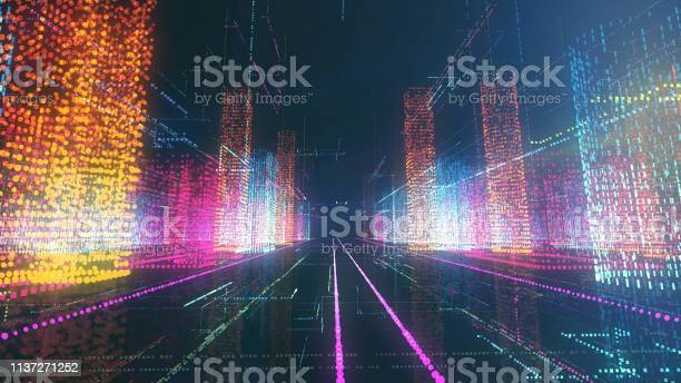 Digital City Stock Photo - Download Image Now