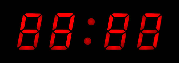 digital clock - countdown stock photos and pictures