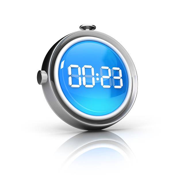 reloj digital ver o contador icono - vuelta completa fotografías e imágenes de stock