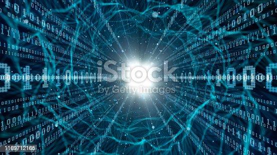 istock Digital communication concept. Cyber security. 1169712165