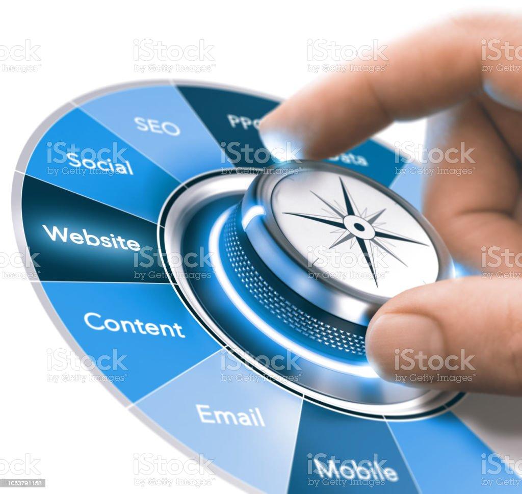 Digital Communication Strategies Training, Marketing 360 degree stock photo