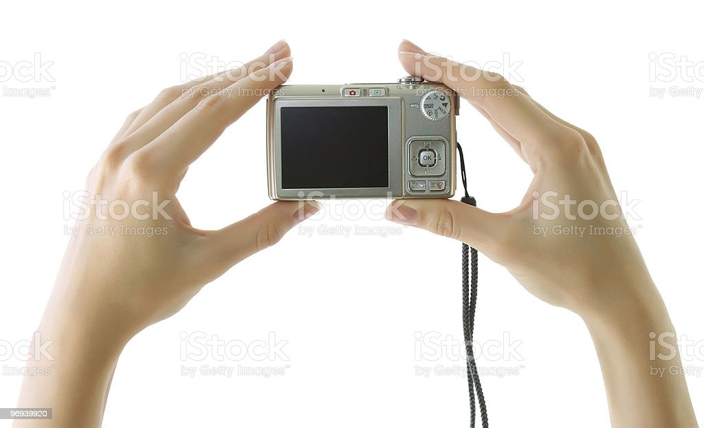 Digital compact camera royalty-free stock photo