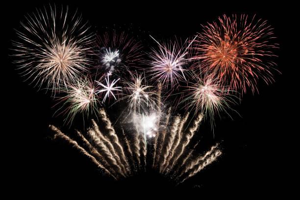 Digital composite of fireworks