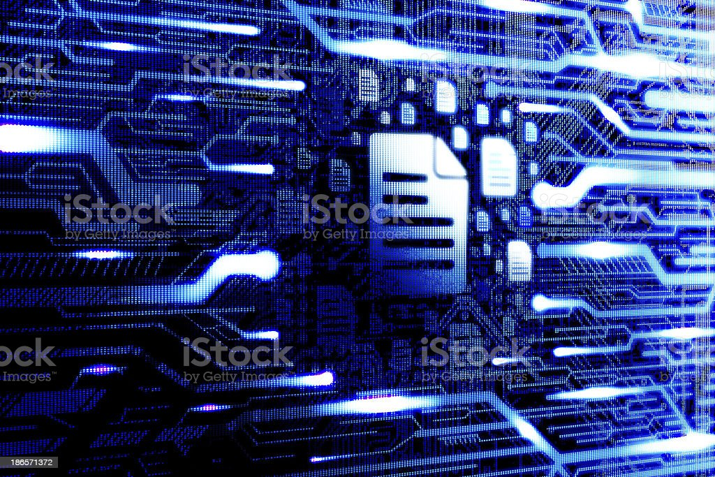 Digital computer file royalty-free stock photo