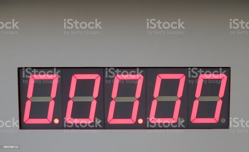 Digital Counter stock photo