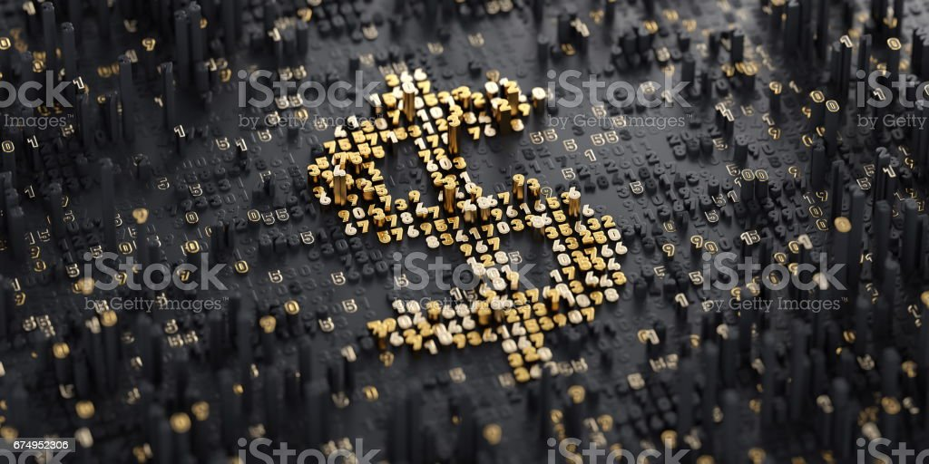 Digital Currency. Dollar stock photo
