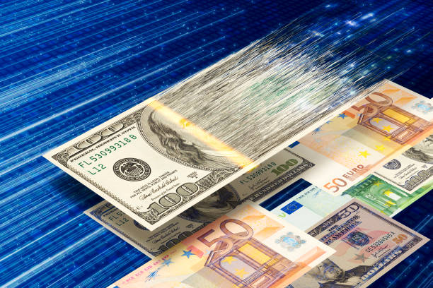 Digital Currency or Money Transfer stock photo