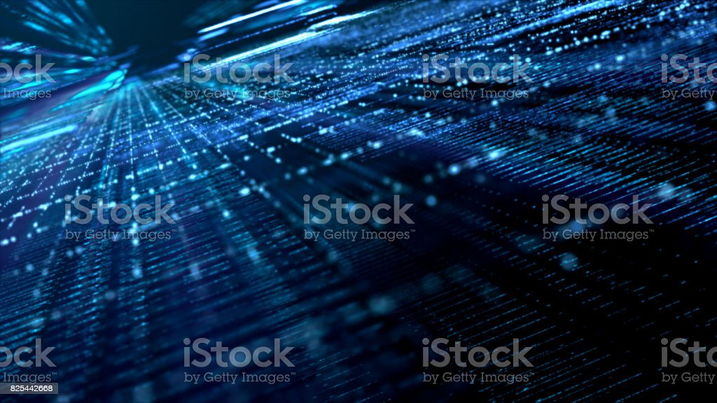 Digital Cyber Space Particles - foto stock