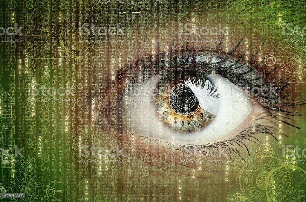 Digital data and eye - Royalty-free Abstract Stock Photo