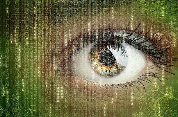Digital data and eye stock photo