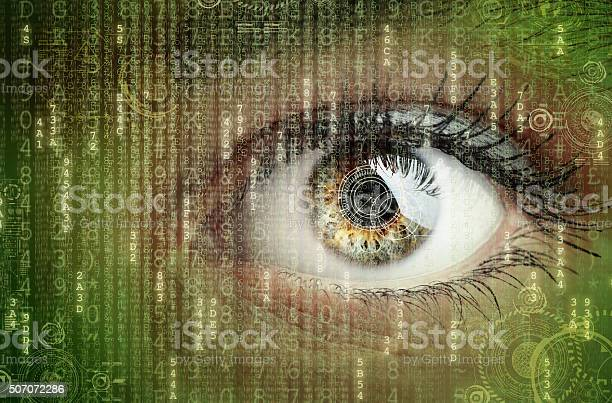Digital Data And Eye Stock Photo - Download Image Now