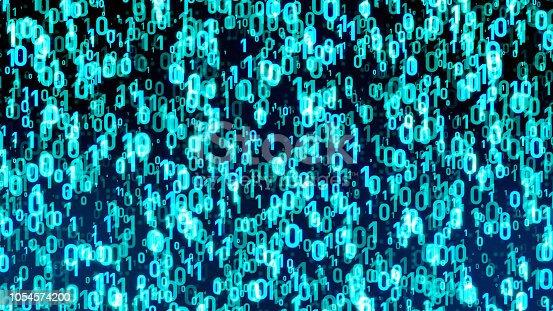 848353924istockphoto Digital data concept. Binary code. 1054574200