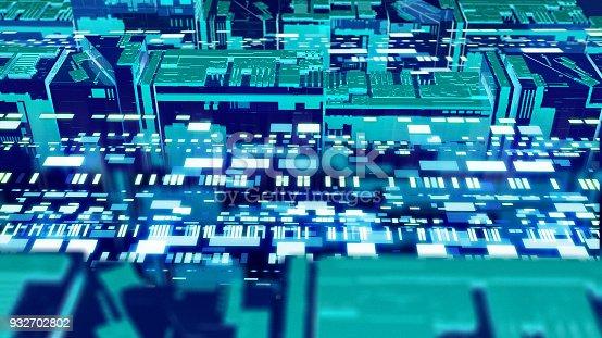 istock Digital data stream transfer 932702802