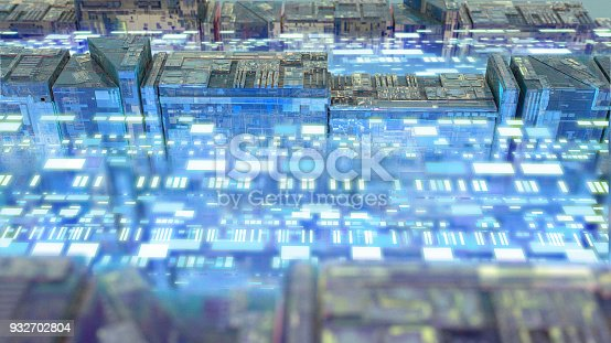 489599728 istock photo Digital data stream transfer 932702804