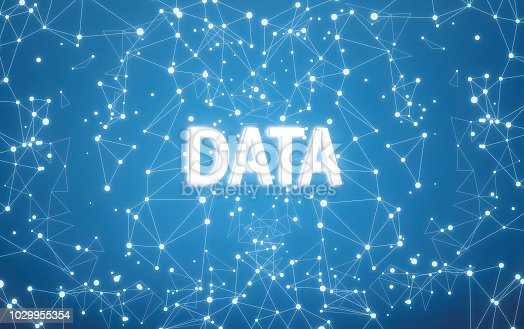 istock Digital data text on blue network background 1029955354