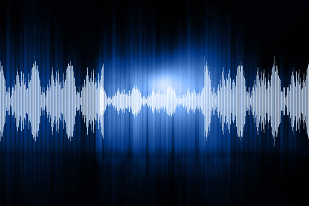 digital design of sound waves - recorder stock photos and pictures
