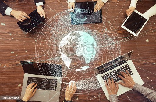 811259350istockphoto Digital devices and global network concept. 919524686