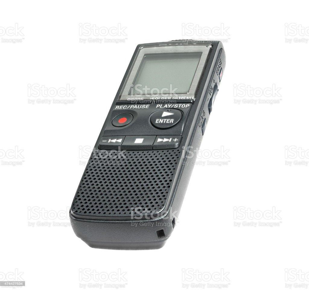 Digital dictaphone stock photo