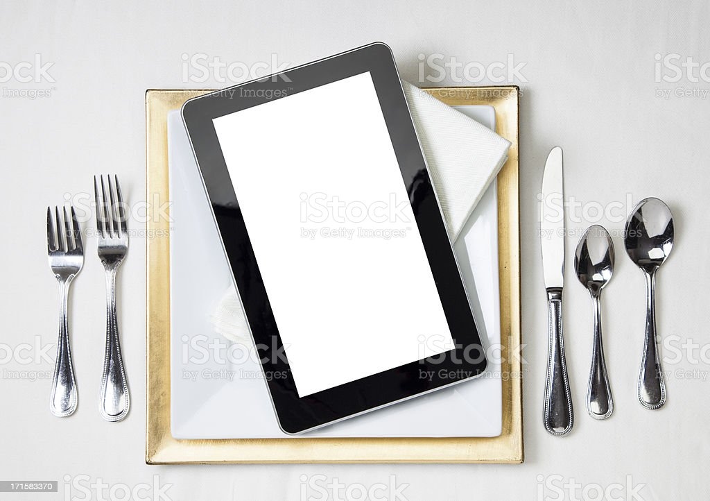 Digital Dining stock photo