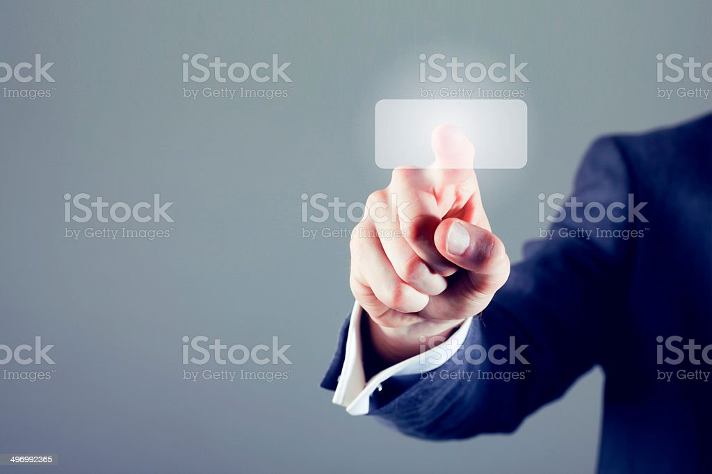 Digital display button royalty-free stock photo
