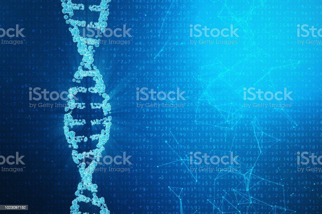 Molécula De Adn Digital Estructura Genoma Humano Del Código