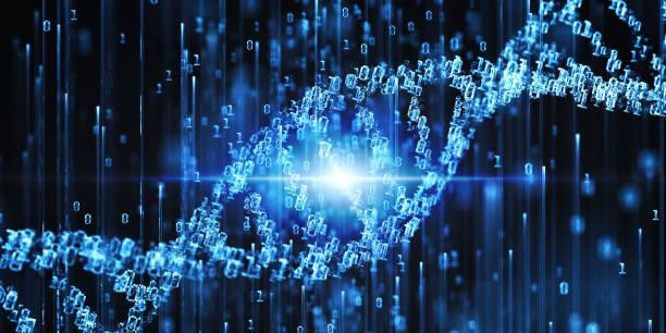 digital dna - mutazione genetica foto e immagini stock