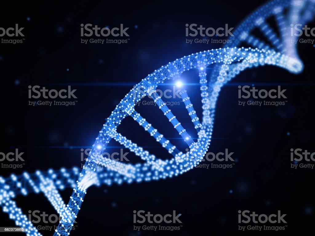 Digitala DNA royaltyfri bildbanksbilder