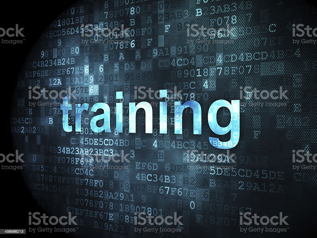 Digital drawing of the word training stock photo